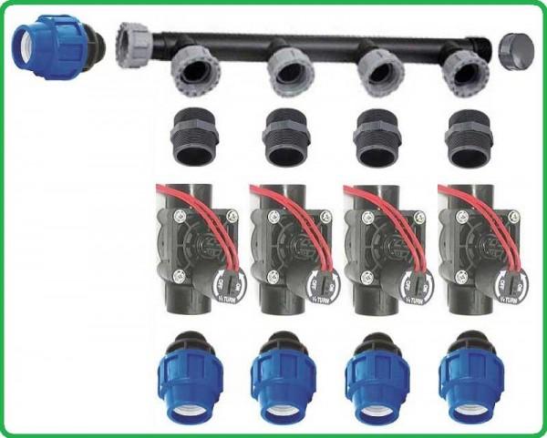 Ventilbox für 4 Bewässerungs- Stationen