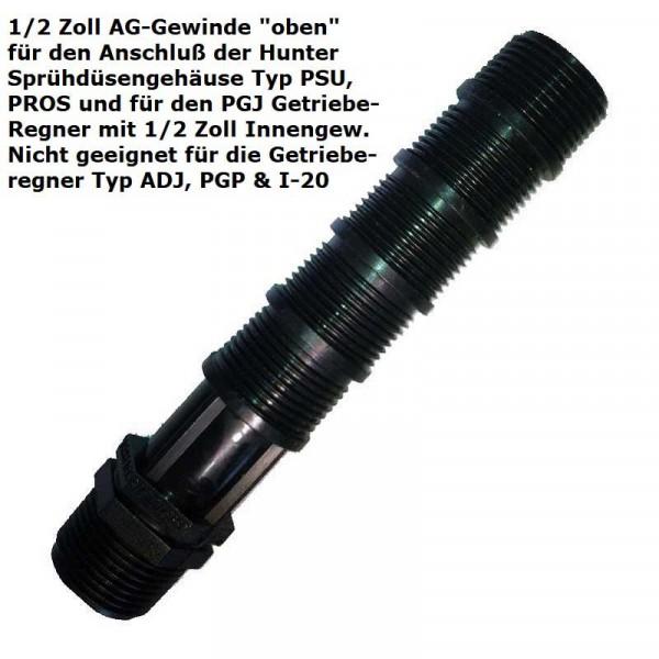 Langnippel kürzbar für Sprühdüsengehäuse und/oder Hunter PGJ Getrieberegner