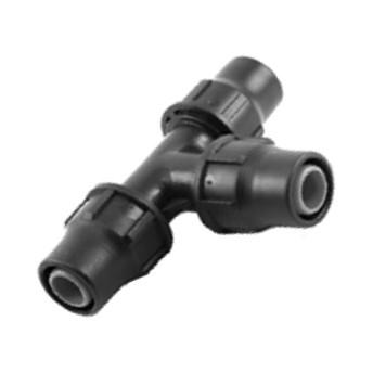 Anschluss- T-Stück für 16 mm Beregnungsrohre bzw. Tropfrohre
